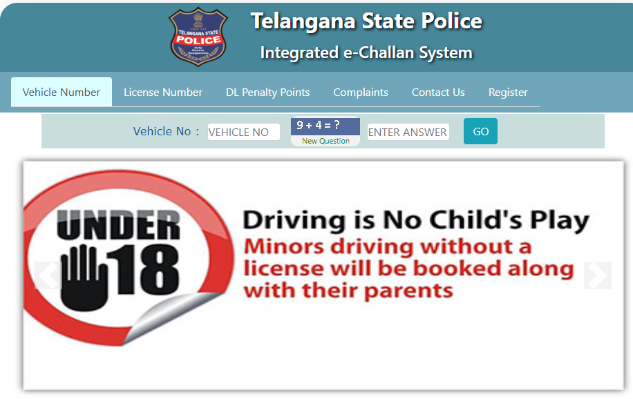 Hyderabad e Challan Status Check | Pay Telangana Hyderabad